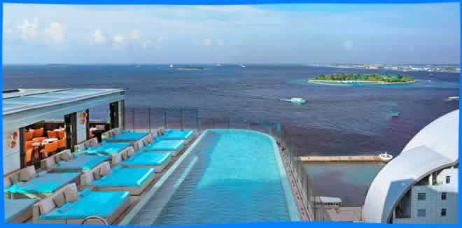 rooftop pool male city