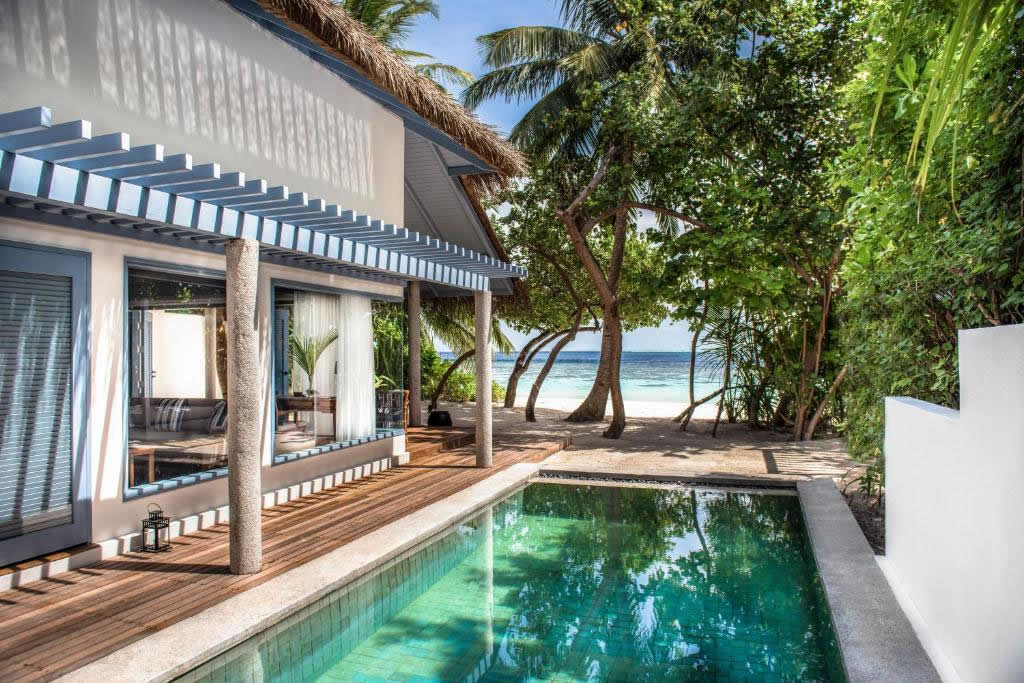 Raffles Maldives Meradhoo  beach pool villa