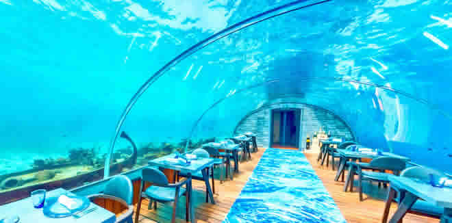 best Underwater Restaurants in maldives or where to eat underwater