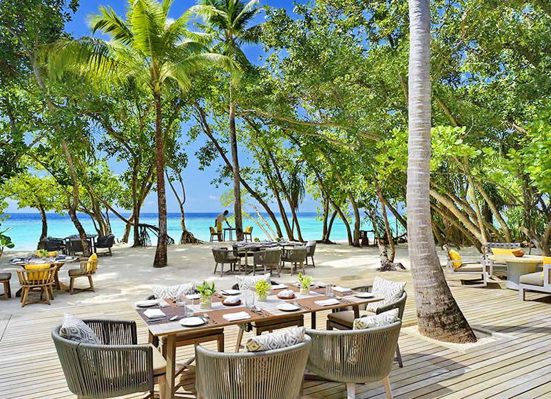 ресторан Amaany, еда на пляже
