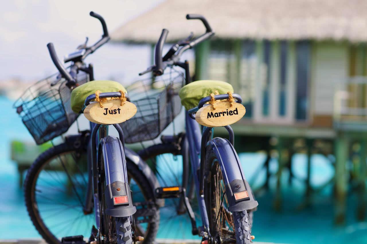 на велосипеде по мальдивам