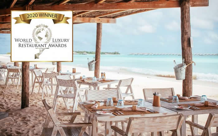 Crab Shack в Seaside Finolhu - Лучший пляжный  ресторан на World Luxury Restaurant Awards