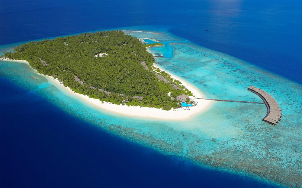 Filitheyo Island Resort, aerial