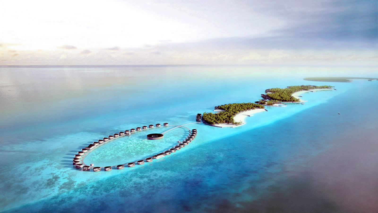 The Ritz-Carlton Maldives Fari Islands aerial