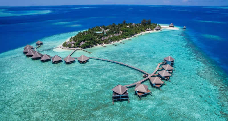 Adaaran Club Rannalhi aerial, house reef