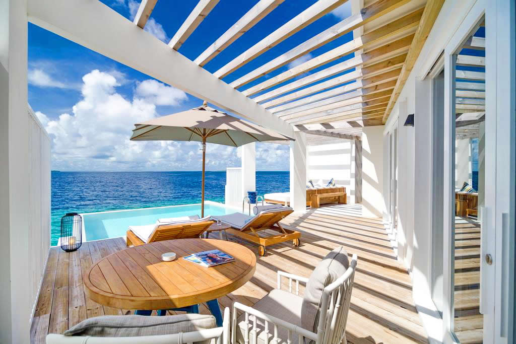 Amilla Fushi's water villa with pool