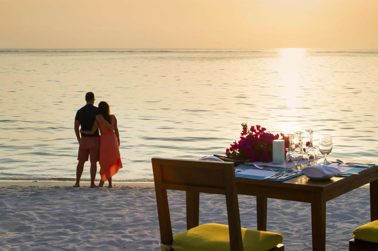 романтический вечер на мальдивах