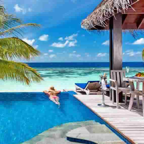 adults only beach pool villas around maldives