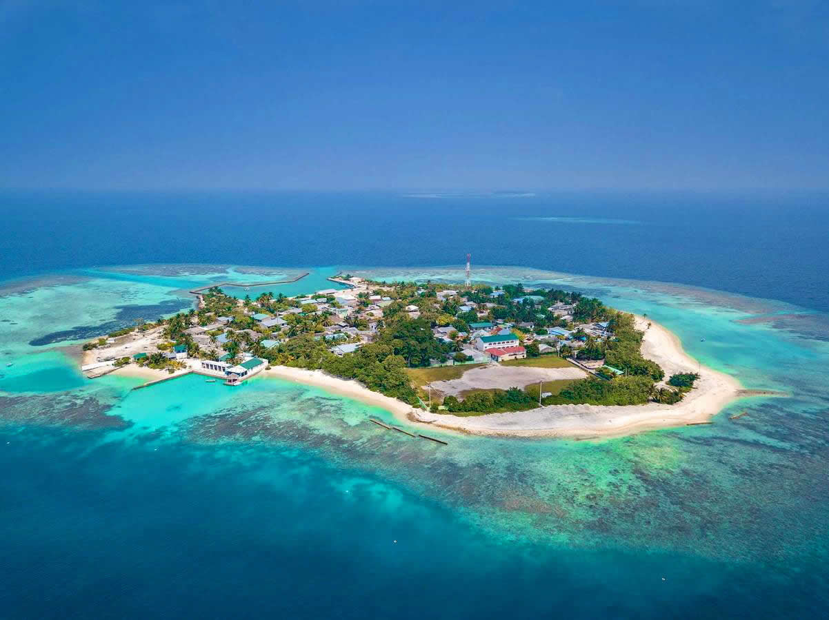 Bodufolhudhoo - North Ari Atoll aerial