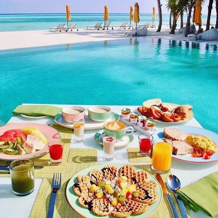 Breakfast with a View in maldives