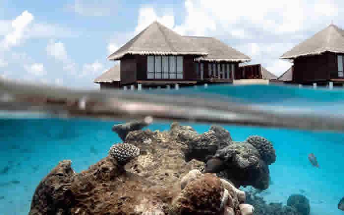 ваодная вилла на рифе