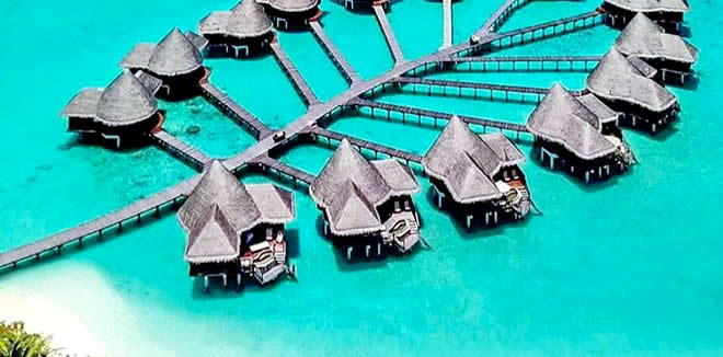 cheap water bungalows, male atoll