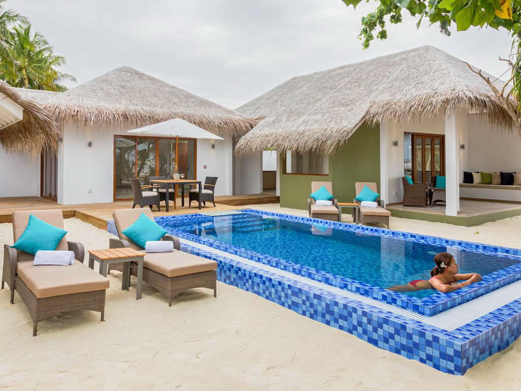 family suite with pool at Cocoon Maldives