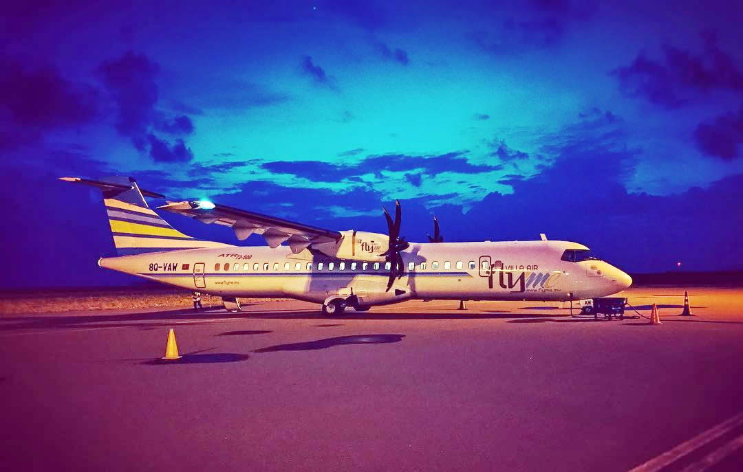 Dharavandhoo Airport (DRV) night flight