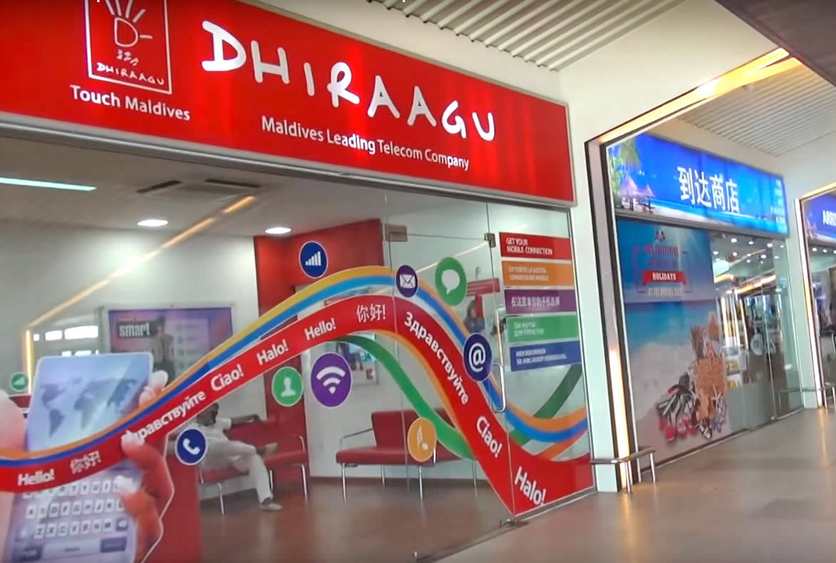 Dhiraagu airport office