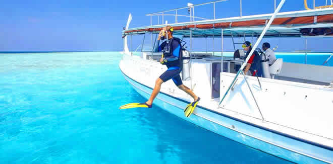 1st time scuba in maldives