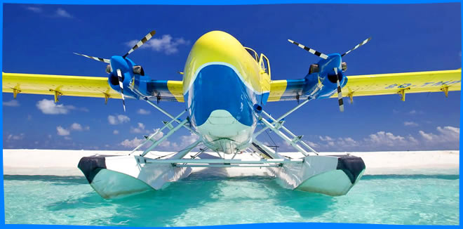 Travelling by Seaplane in Maldives