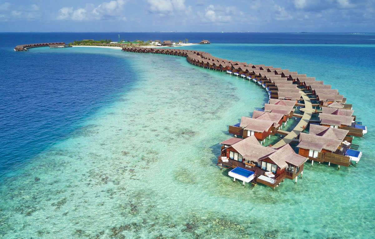 Grand Park Kodhipparu, Maldives overwater bungalow with pool