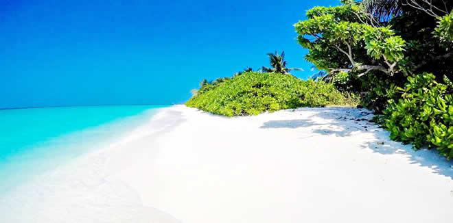 Hanimaadhoo Island beach