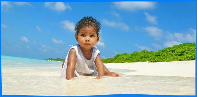 Kelaa Island beach