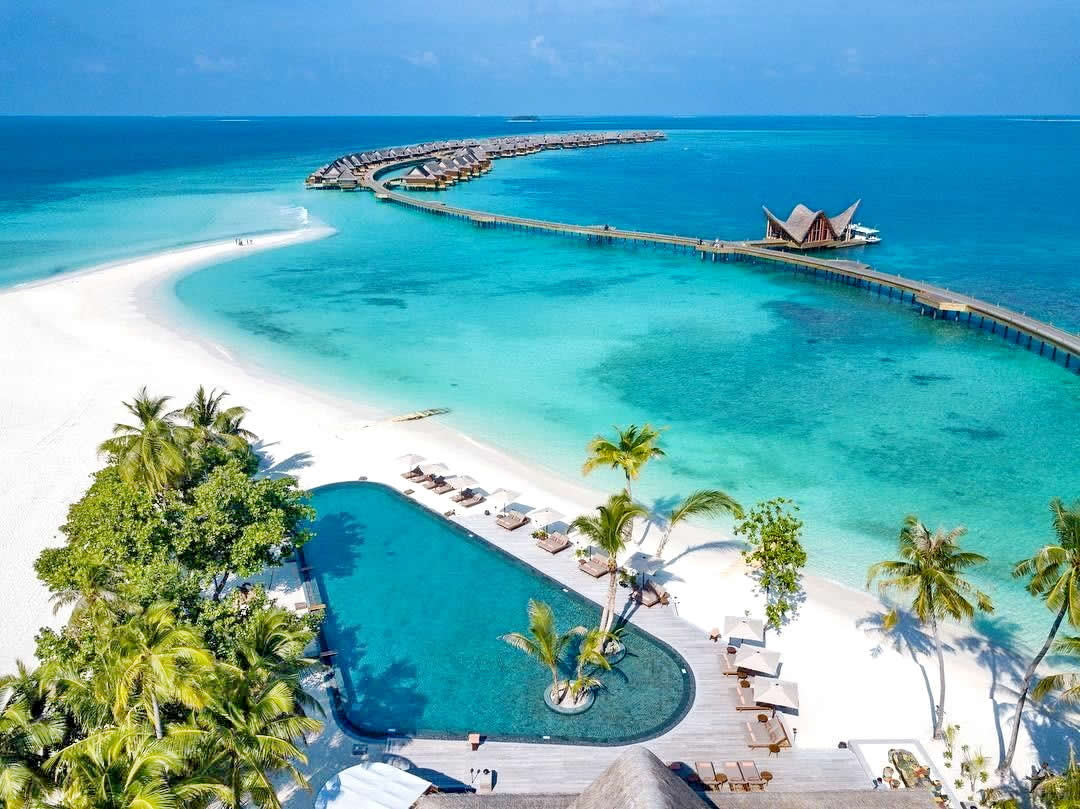 joali maldives aerial