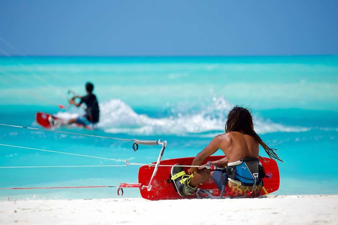 Kitesurfing in maldives