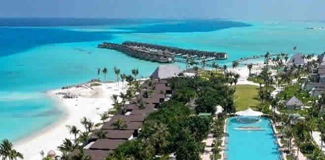 Kuda Villingili Resort Maldives aerial