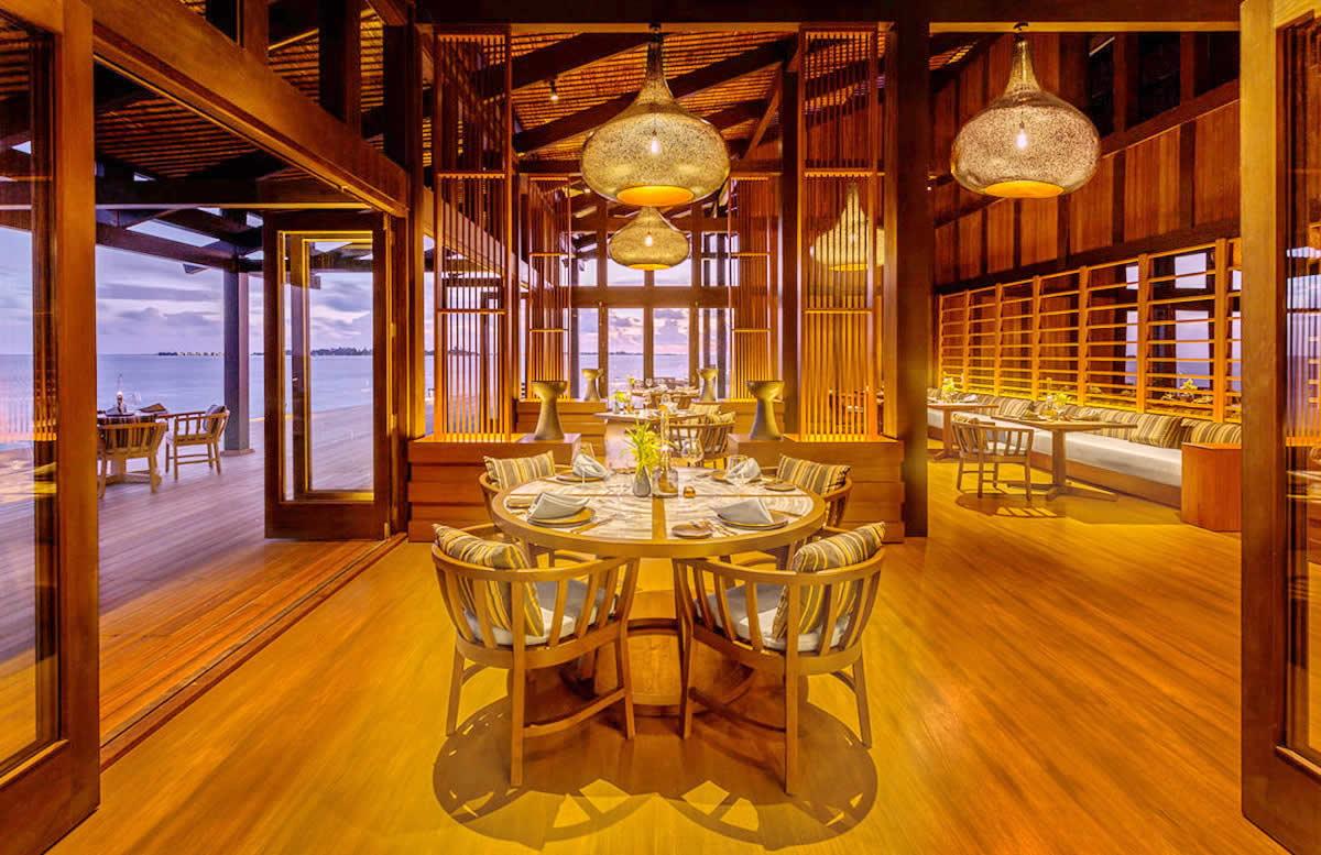 изысканный ресторан в Kudadoo Maldives