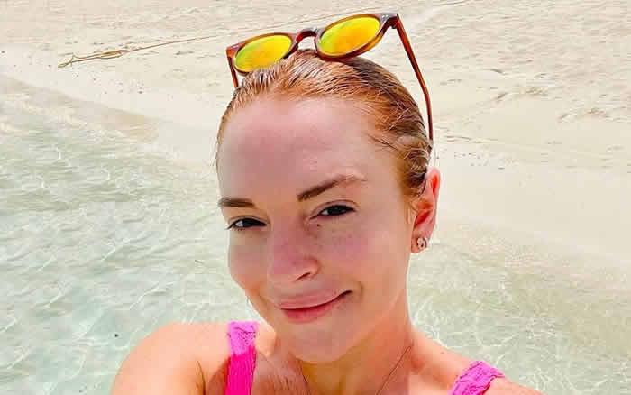 Линдси Лохан в W Maldives