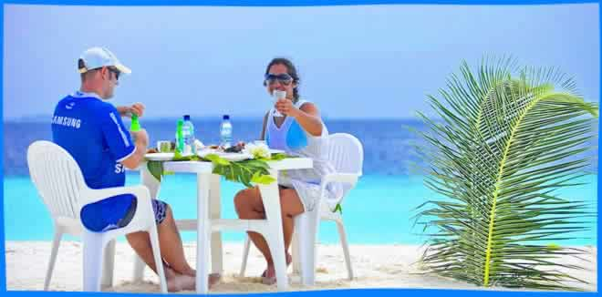 most popular restaurants on Maafushi island
