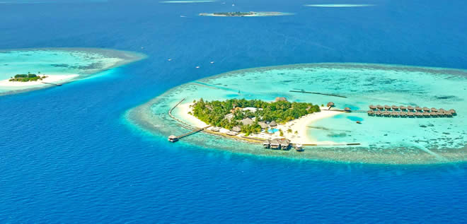 The collection of atolls lies between latitudes