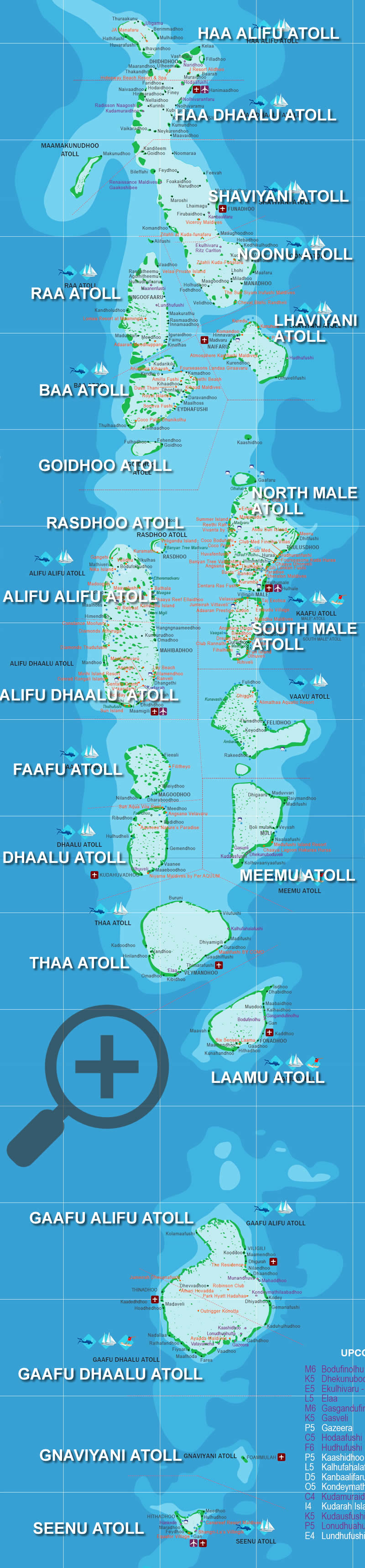 the maldives map with resorts and airports .pdf