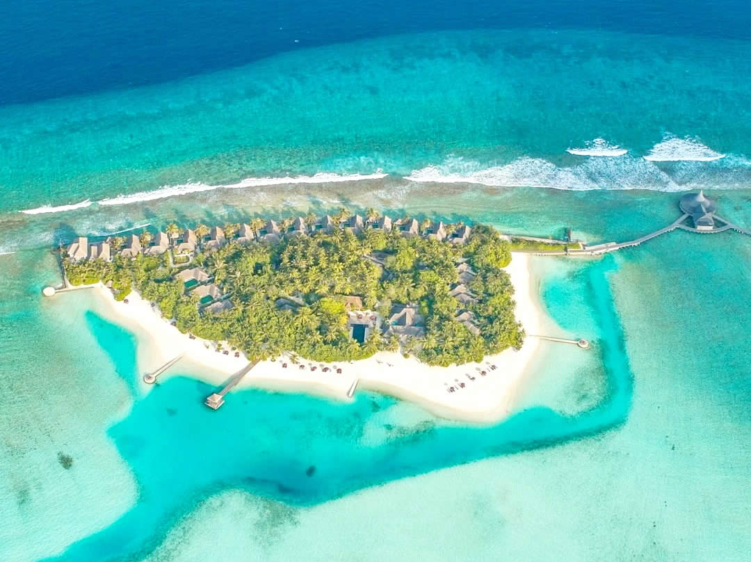 Naladhu Private Island Maldives aerial