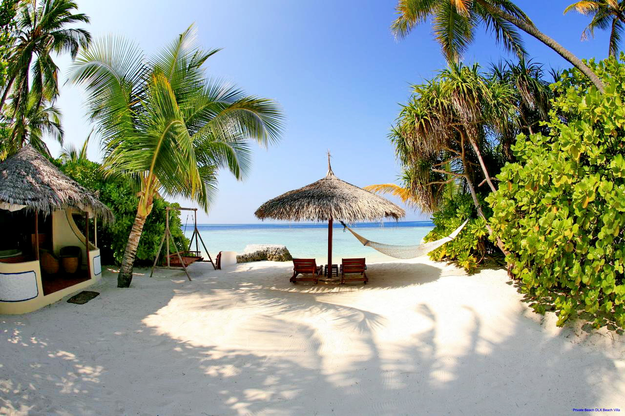Nika Island Resort & Spa, Maldives, the beach side