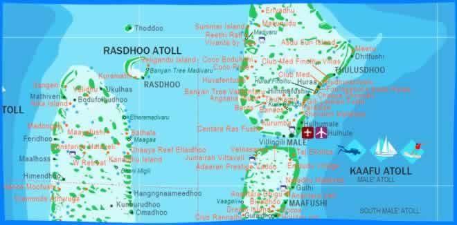 South Malé Atoll Map
