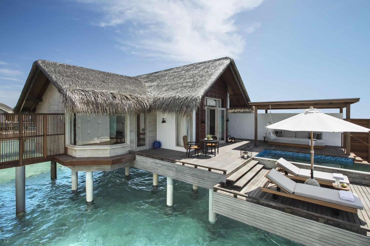 водные виллы  в Fairmont Maldives, Sirru Fen Fushi