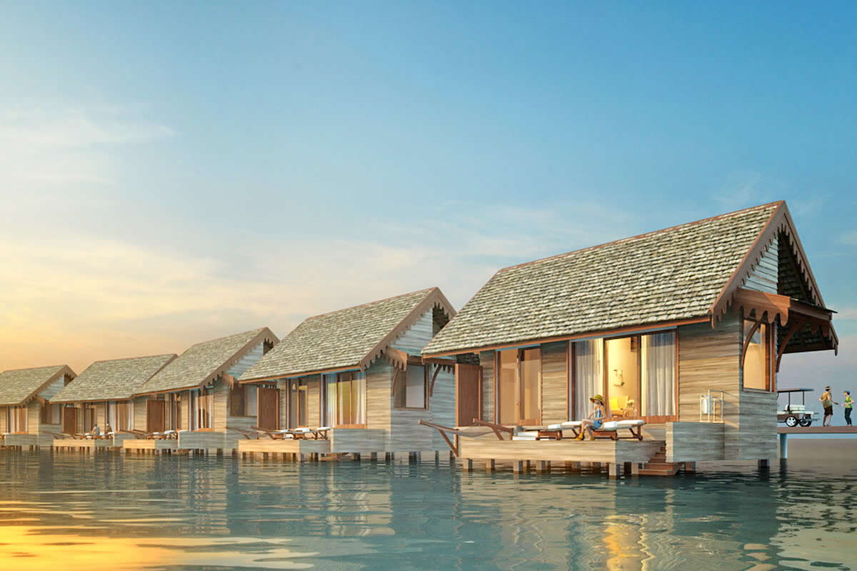 Meeru Island Resort & Spa, water villas