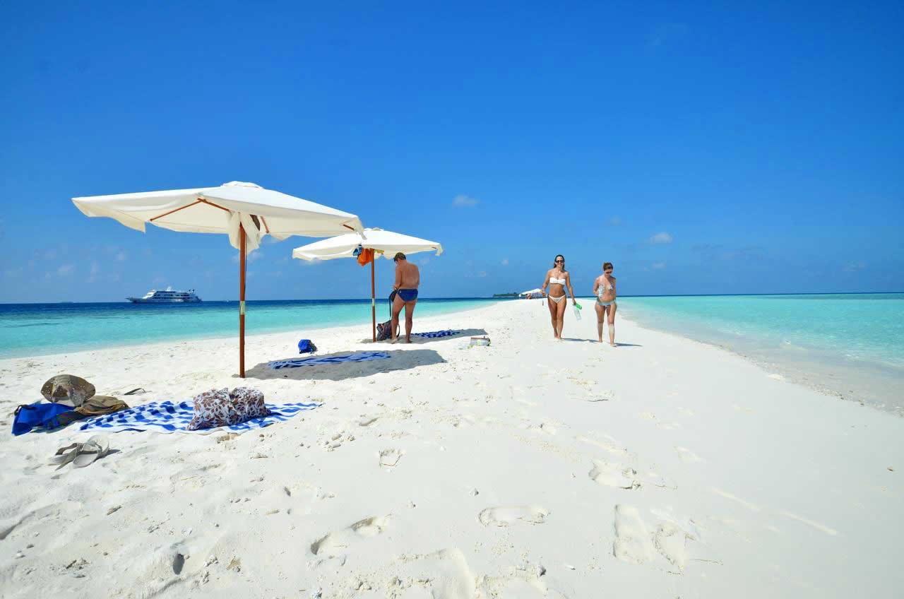 экскурсиЯ на песчаную отмель в мальдивах