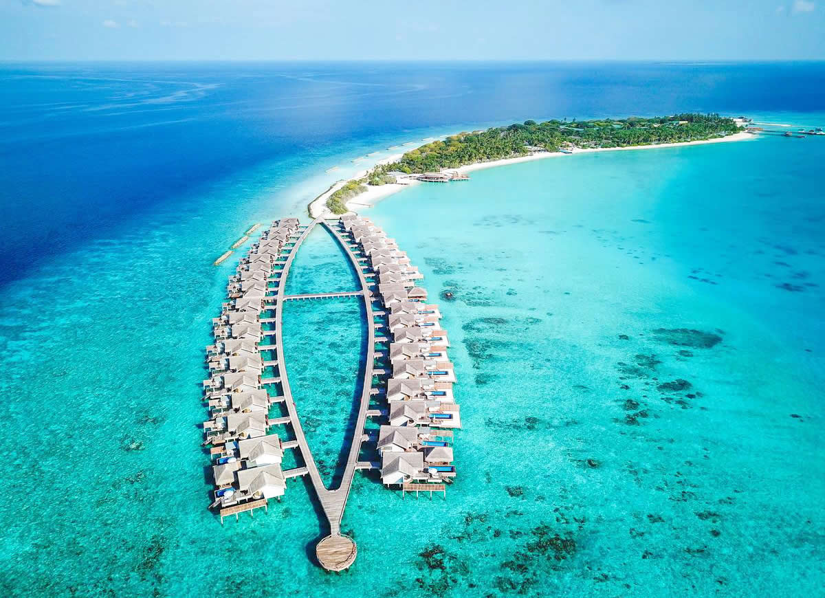 Fairmont Maldives, Sirru Fen Fushi aerial