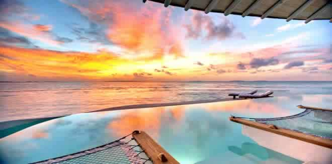 30 Amazing Sunset Water Pool Villas in The Maldives