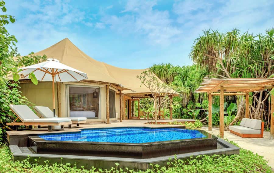 палатки  в Fairmont Maldives, Sirru Fen Fushi