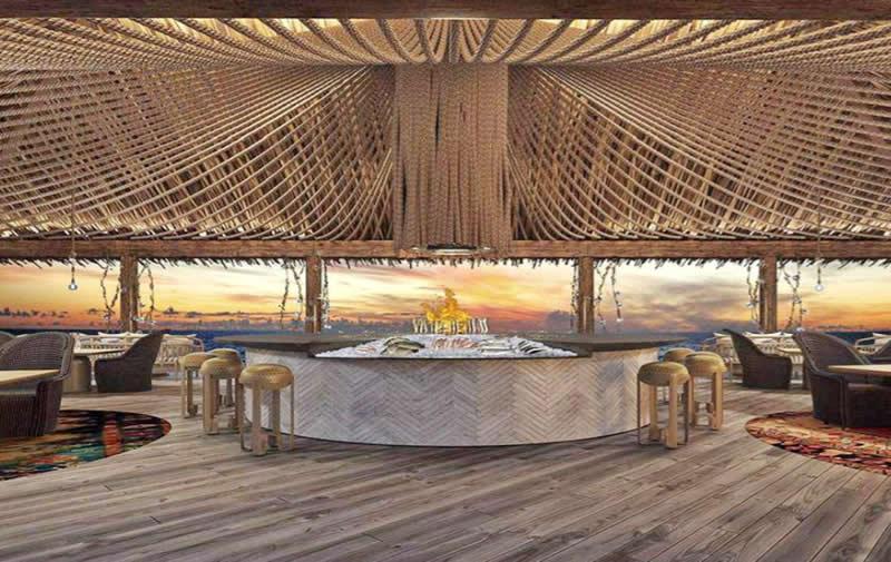 ресторан Azure в Fairmont Maldives, Sirru Fen Fushi
