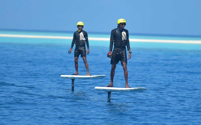 Four Seasons Resort Maldives Landaa Giraavaru Launches Maldives' First Hydrofoil Experiences